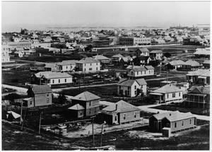 [Aerial view of Texas City after the 1915 hurricane]