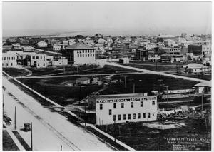 Primary view of object titled '[Aerial view of Texas City after the 1915 hurricane]'.