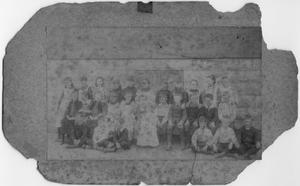 Primary view of object titled '[Sepha Helen Edmunds in a school photograph in 1891]'.