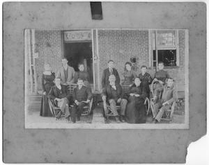 Primary view of object titled '[The family of Helen Edmunds Moore around 1890]'.