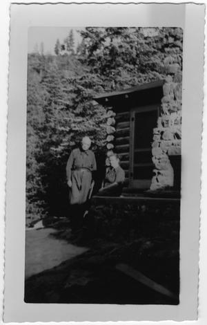 [Col. Hugh B. Moore and Helen Edmunds Moore at the cabin]