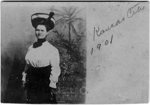 Primary view of object titled '[A portrait of a young Helen Edmunds Moore]'.