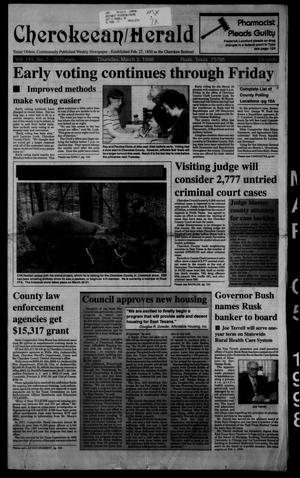 Cherokeean/Herald (Rusk, Tex.), Vol. 149, No. 2, Ed. 1 Thursday, March 5, 1998