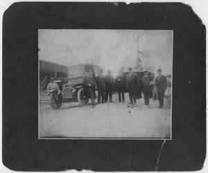 [Colonel Hugh Benton Moore, Captain A. B. Wolvin and others at the Texas City docks around 1907]