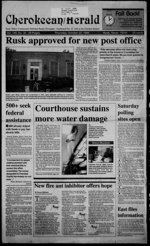 Cherokeean/Herald (Rusk, Tex.), Vol. 149, No. 35, Ed. 1 Thursday, October 22, 1998