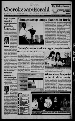 Cherokeean/Herald (Rusk, Tex.), Vol. 149, No. 50, Ed. 1 Thursday, February 4, 1999