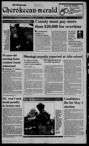Cherokeean/Herald (Rusk, Tex.), Vol. 150, No. 3, Ed. 1 Thursday, March 11, 1999