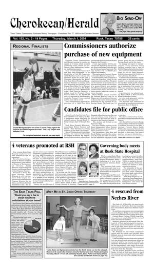 Cherokeean/Herald (Rusk, Tex.), Vol. 152, No. 2, Ed. 1 Thursday, March 1, 2001