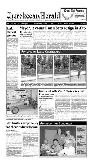 Cherokeean/Herald (Rusk, Tex.), Vol. 152, No. 18, Ed. 1 Thursday, June 21, 2001