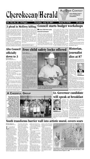 Cherokeean/Herald (Rusk, Tex.), Vol. 152, No. 22, Ed. 1 Thursday, July 19, 2001
