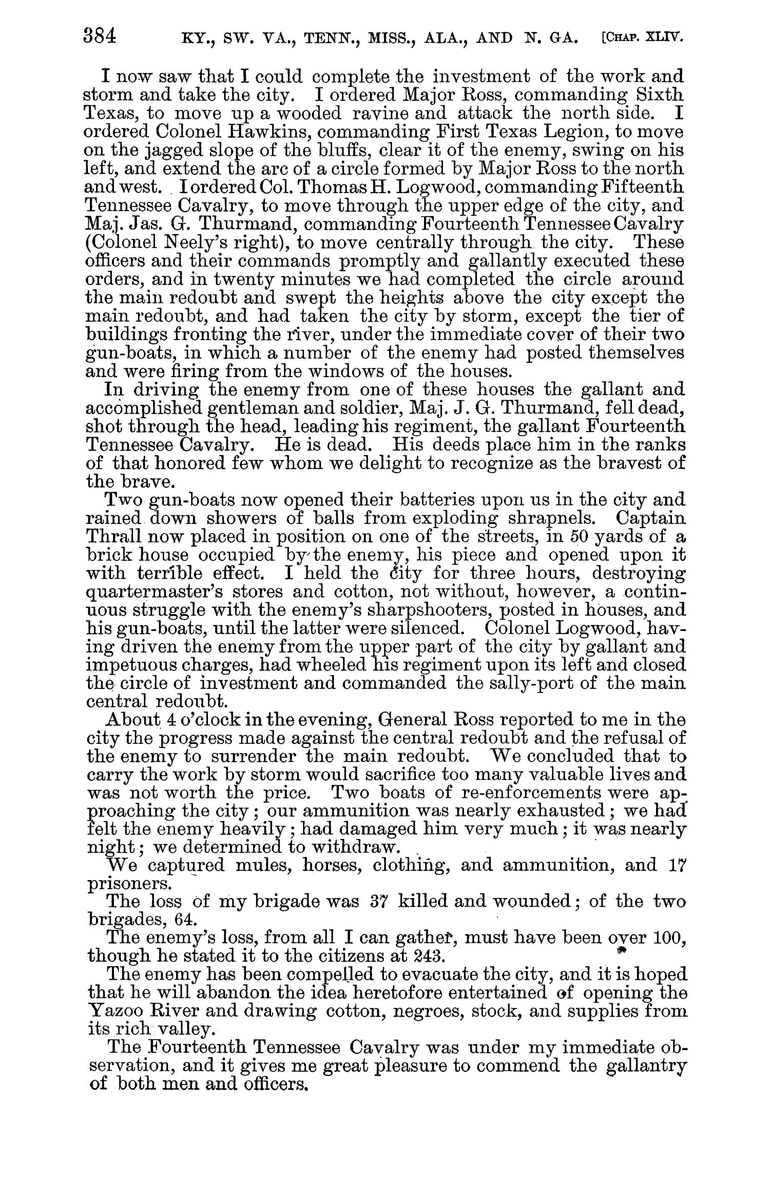 The War of the Rebellion: A Compilation of the Official Records of the Union And Confederate Armies. Series 1, Volume 32, In Three Parts. Part 1, Reports.                                                                                                      384