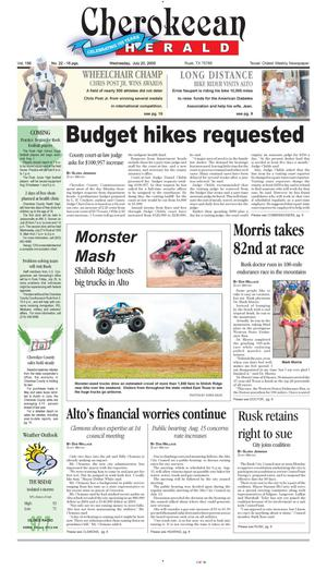 Cherokeean Herald (Rusk, Tex.), Vol. 156, No. 22, Ed. 1 Wednesday, July 20, 2005