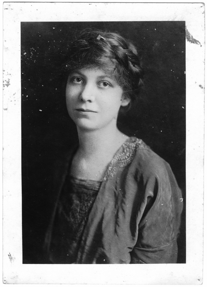 "On the back of the photograph is written: ""Miss Lavinia Engle Organizer for the National Women Suffrage Assn 1913 Please return to Mrs. Helen Moore Texas City"" On the bottom of the photograph is stamped: ""National Women Suffrage Press Bureau, 505 Fifth Ave. New York City."""