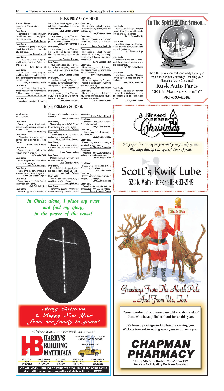 Cherokeean Herald Rusk Tex Vol 160 No 43 Ed 1 Wednesday