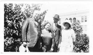 Primary view of object titled '[Col. Hugh B. and Helen Moore with an unidentified couple]'.