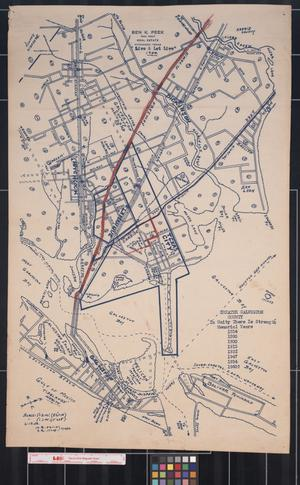 Primary view of object titled '[Map of Greater Galveston County, 1954]'.