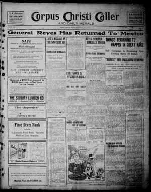 Primary view of object titled 'Corpus Christi Caller and Daily Herald (Corpus Christi, Tex.), Vol. 13, No. 11, Ed. 1, Wednesday, December 6, 1911'.