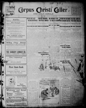 Primary view of object titled 'Corpus Christi Caller and Daily Herald (Corpus Christi, Tex.), Vol. 13, No. 28, Ed. 1, Wednesday, December 27, 1911'.