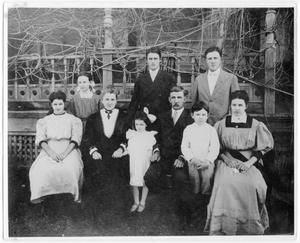 Primary view of object titled '[The Davison family in the early 1900's]'.