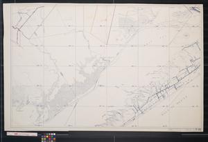 [Map of Galveston, West Bay and surrounding area]