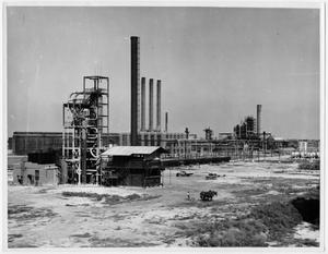 Primary view of object titled '[American Oil Company Refinery in Texas City in 1934]'.