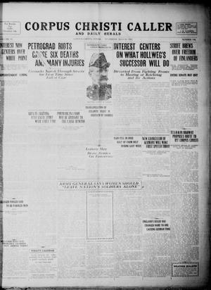 Primary view of object titled 'Corpus Christi Caller and Daily Herald (Corpus Christi, Tex.), Vol. 19, No. 190, Ed. 1, Thursday, July 19, 1917'.