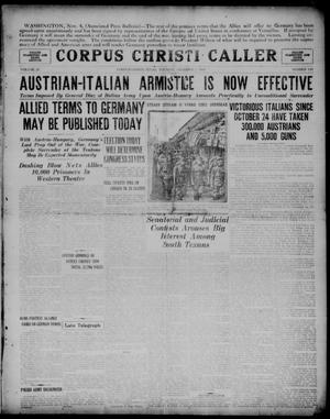 Primary view of object titled 'Corpus Christi Caller (Corpus Christi, Tex.), Vol. 20, No. 193, Ed. 1, Tuesday, November 5, 1918'.