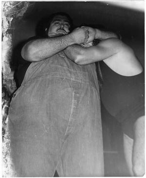 Primary view of object titled 'Haystacks Calhoun and a Competitor'.