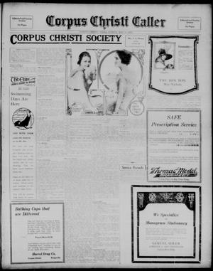 Primary view of object titled 'Corpus Christi Caller (Corpus Christi, Tex.), Vol. 21, No. 51, Ed. 1, Sunday, May 18, 1919'.