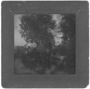 Two Women in a Horse Drawn Cart