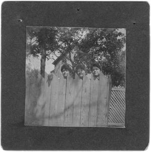 Primary view of object titled 'Three Women Peeking Over a Fence'.