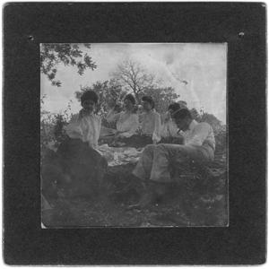 Primary view of object titled 'Four Women and a Man Having a Picnic'.