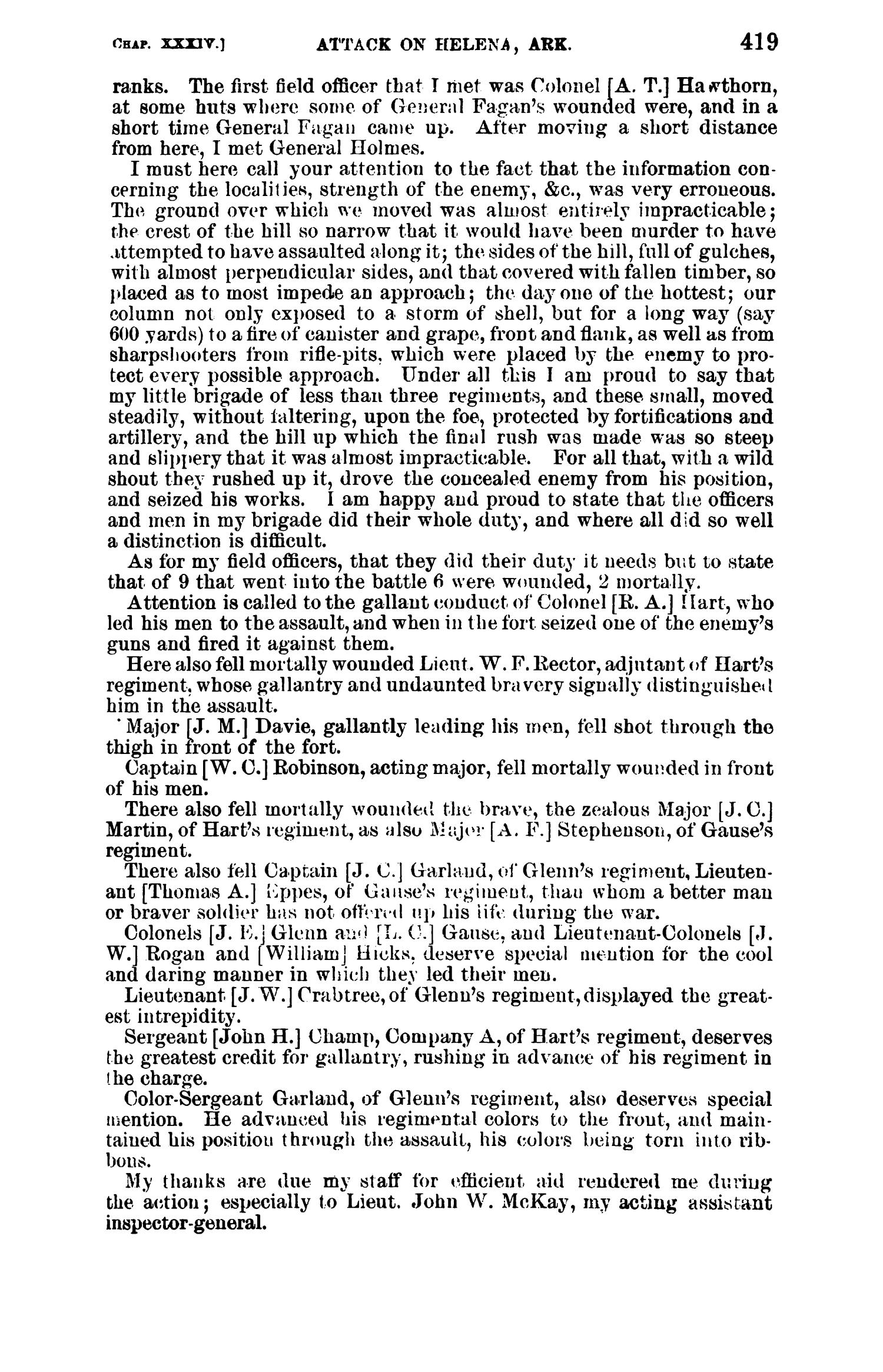 The War of the Rebellion: A Compilation of the Official Records of the Union And Confederate Armies. Series 1, Volume 22, In Two Parts. Part 1, Reports.                                                                                                      419