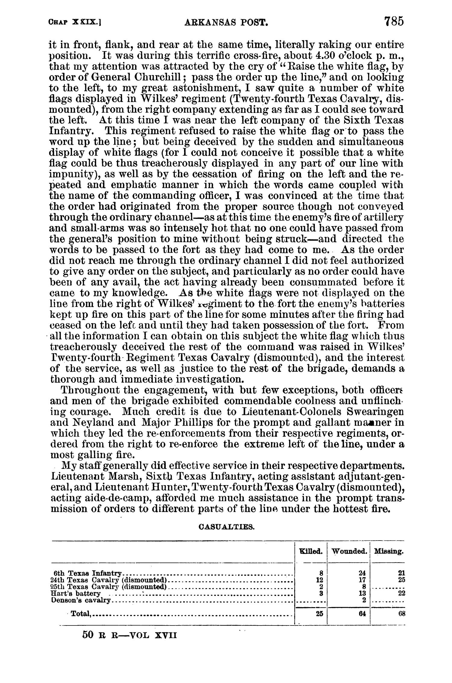 The War of the Rebellion: A Compilation of the Official Records of the Union And Confederate Armies. Series 1, Volume 17, In Two Parts. Part 1, Reports.                                                                                                      785
