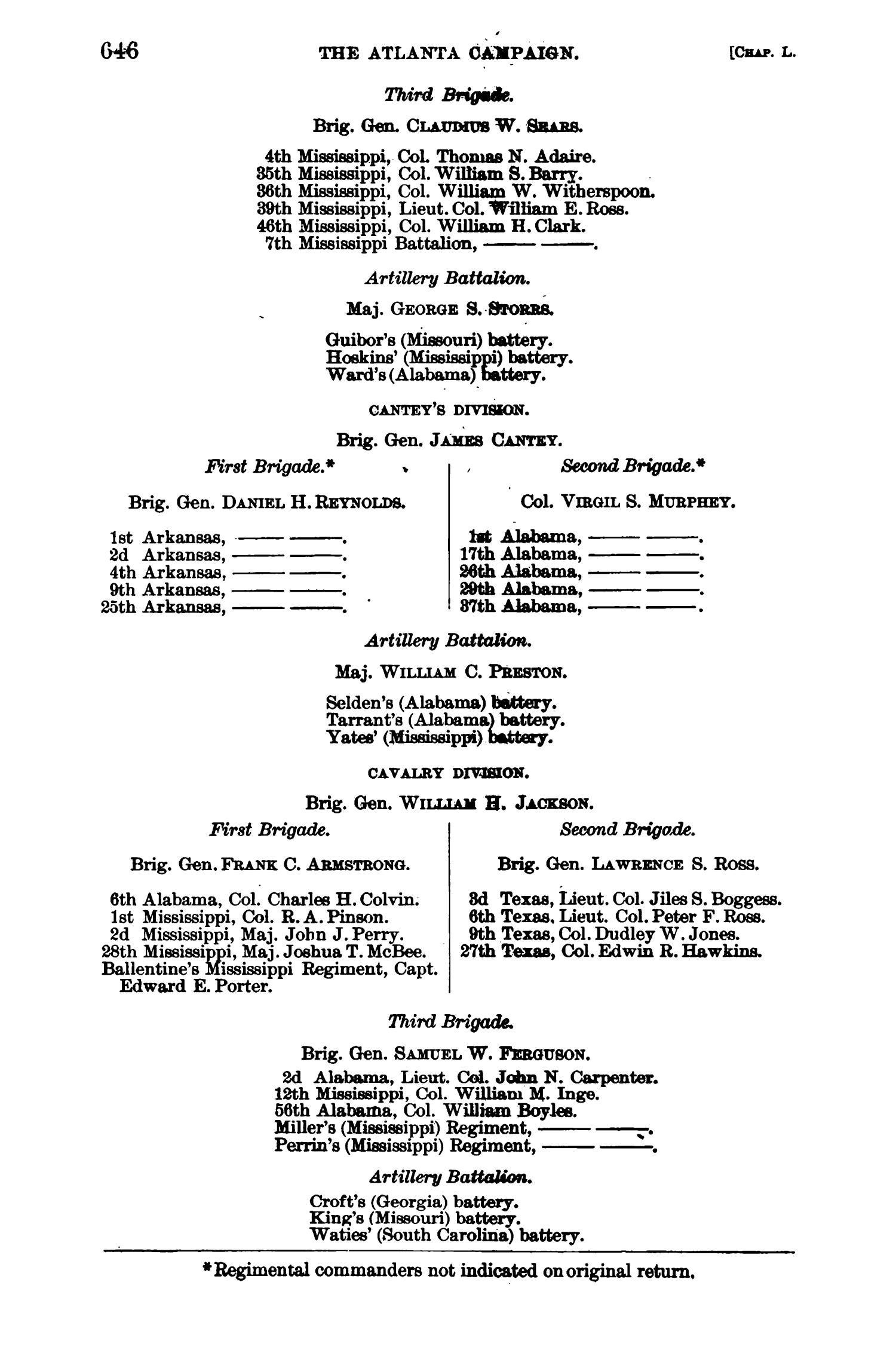 The War of the Rebellion: A Compilation of the Official Records of the Union And Confederate Armies. Series 1, Volume 38, In Five Parts. Part 3, Reports.                                                                                                      646