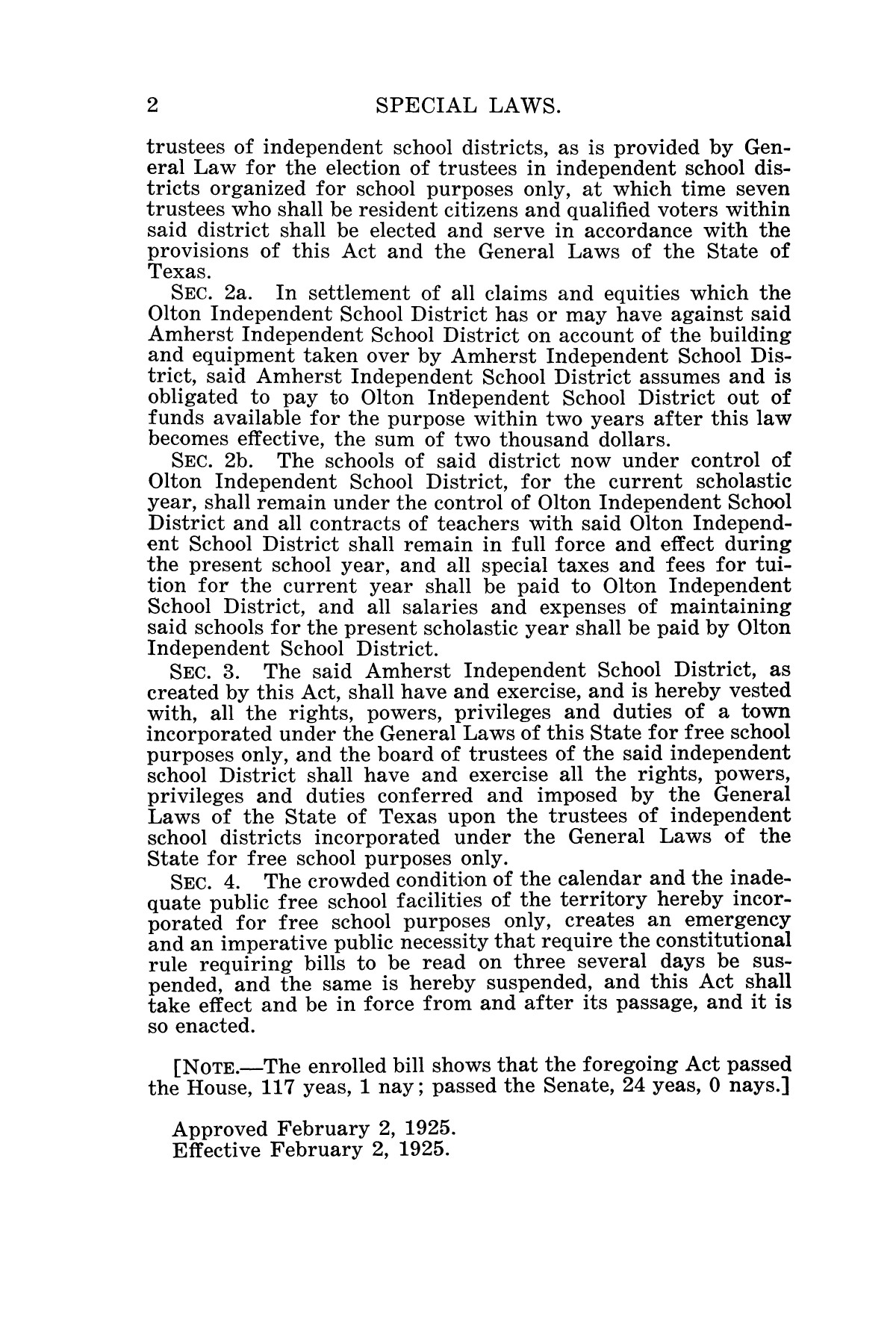 The Laws of Texas, 1925 [Volume 23]                                                                                                      [Sequence #]: 14 of 822