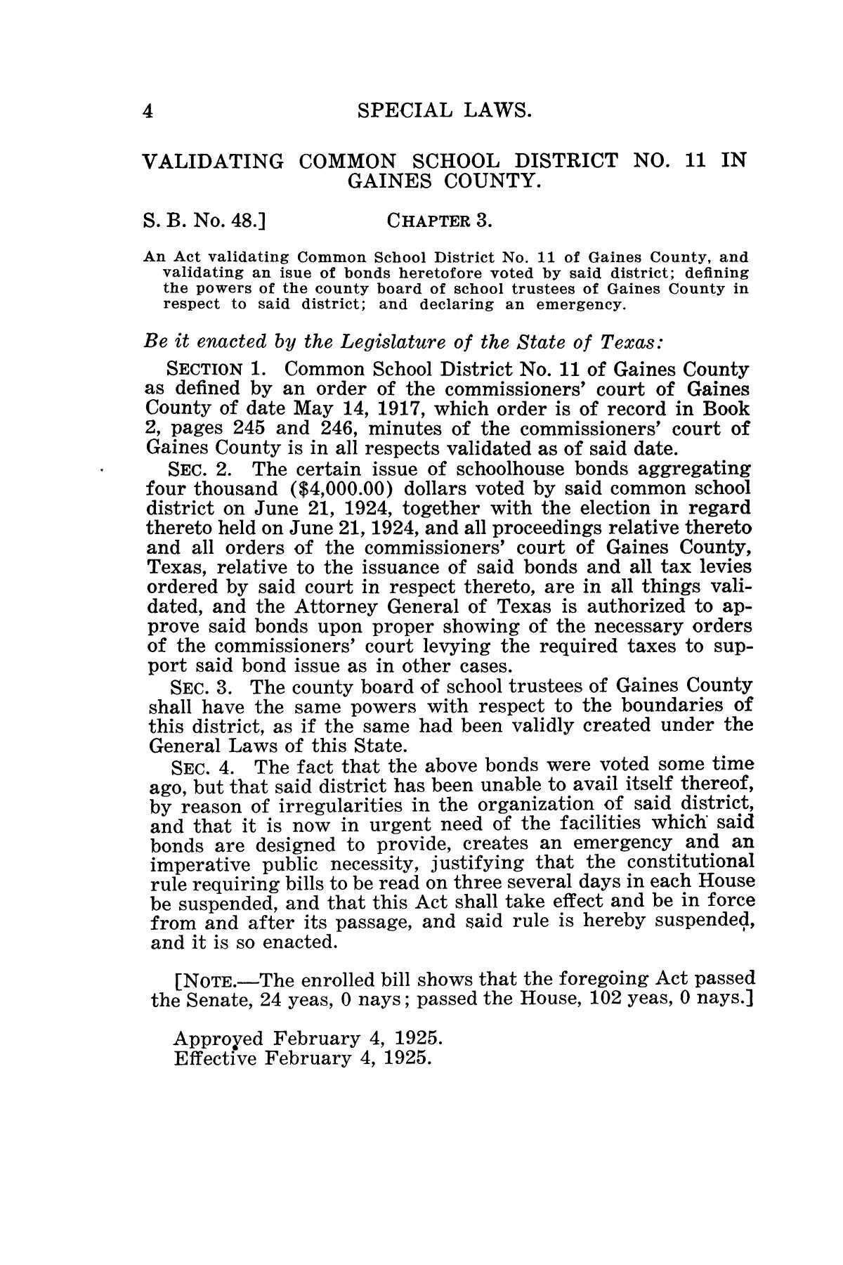 The Laws of Texas, 1925 [Volume 23]                                                                                                      [Sequence #]: 16 of 822