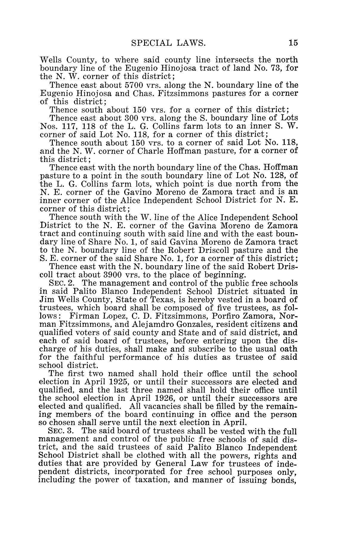 The Laws of Texas, 1925 [Volume 23]                                                                                                      [Sequence #]: 27 of 822