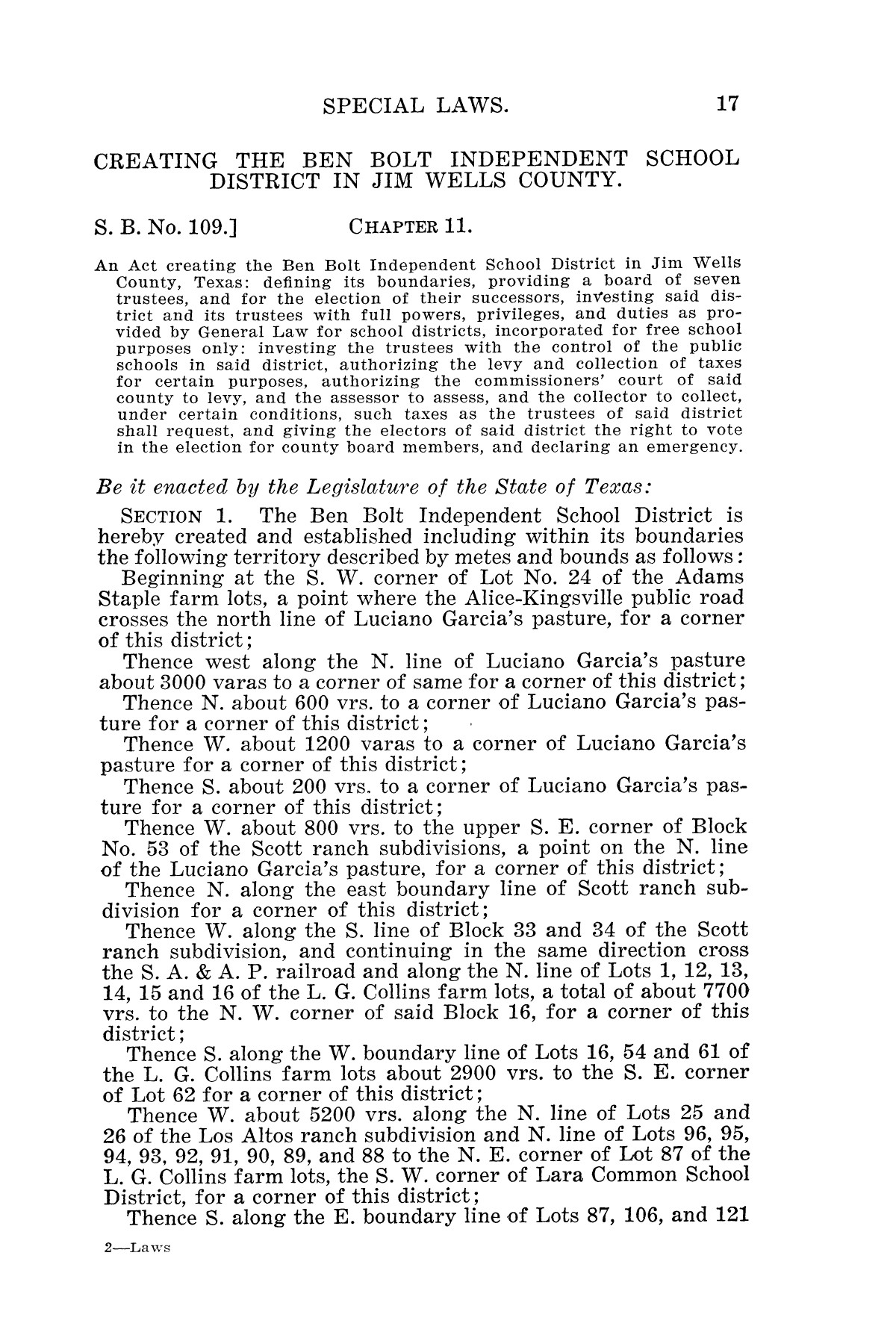 The Laws of Texas, 1925 [Volume 23]                                                                                                      [Sequence #]: 29 of 822