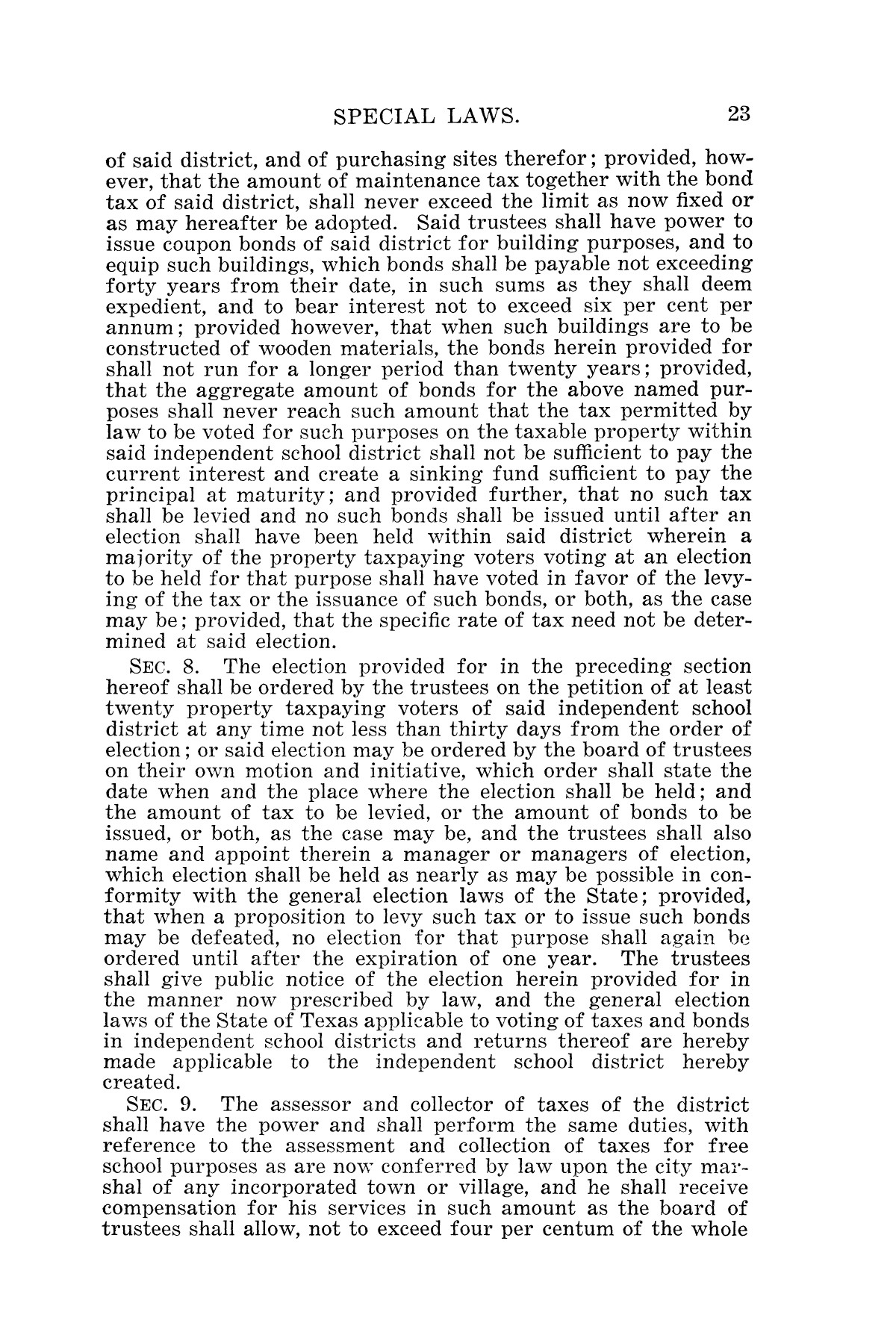 The Laws of Texas, 1925 [Volume 23]                                                                                                      [Sequence #]: 35 of 822