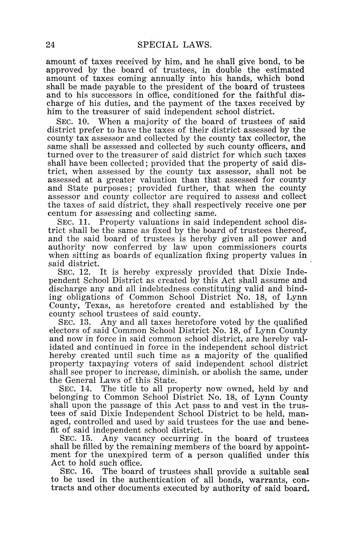 The Laws of Texas, 1925 [Volume 23]                                                                                                      [Sequence #]: 36 of 822