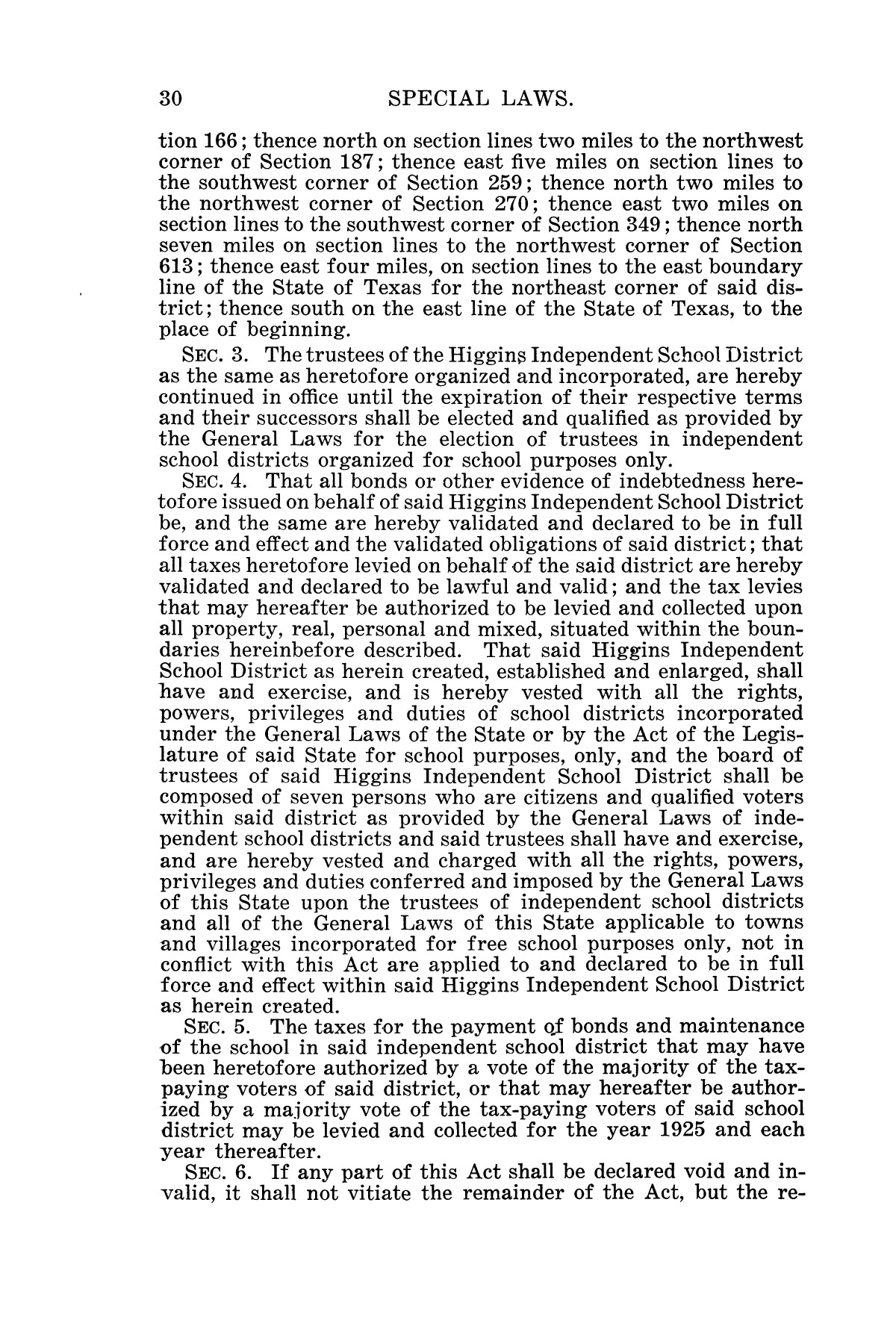 The Laws of Texas, 1925 [Volume 23]                                                                                                      [Sequence #]: 42 of 822