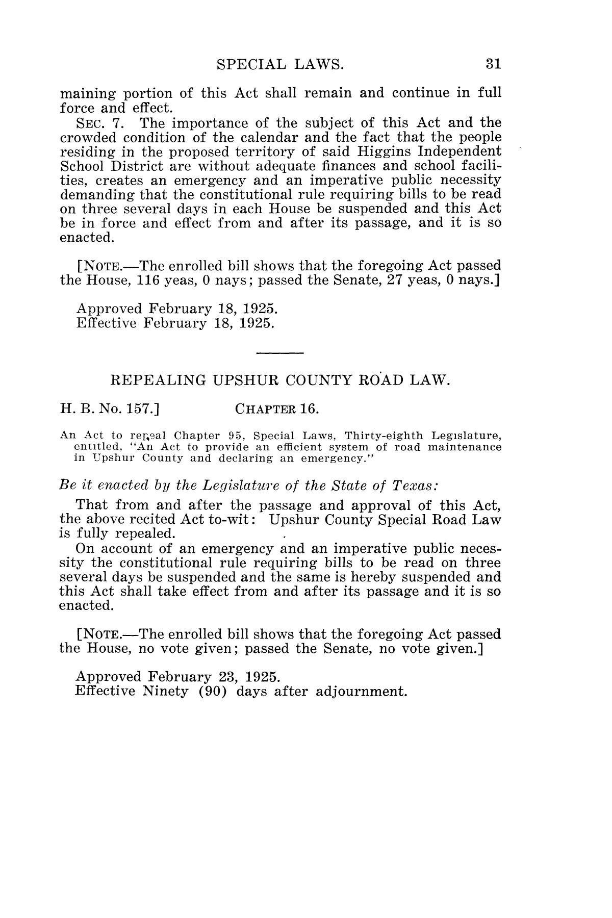 The Laws of Texas, 1925 [Volume 23]                                                                                                      [Sequence #]: 43 of 822