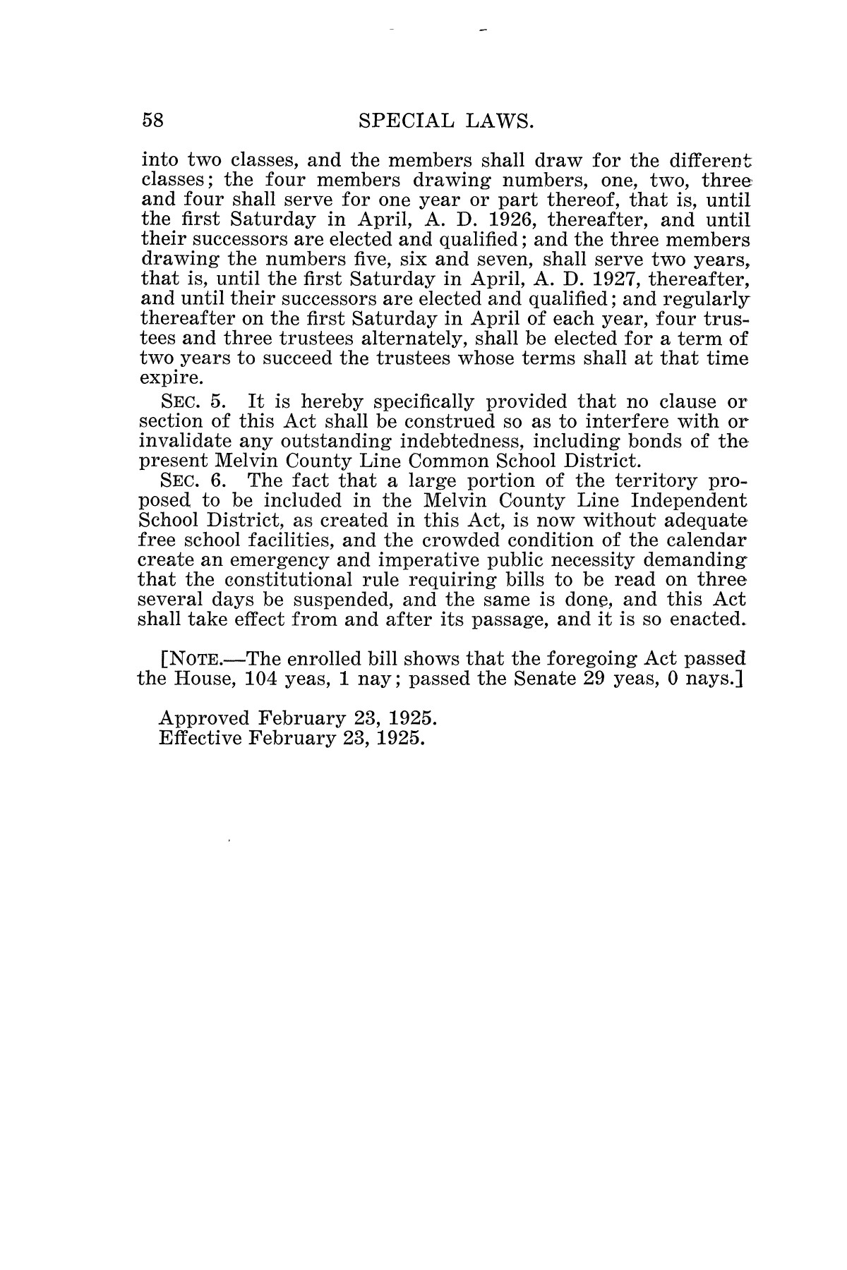 The Laws of Texas, 1925 [Volume 23]                                                                                                      [Sequence #]: 70 of 822