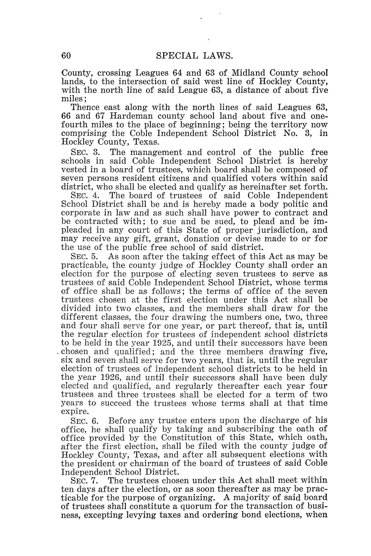 The Laws of Texas, 1925 [Volume 23]                                                                                                      [Sequence #]: 72 of 822