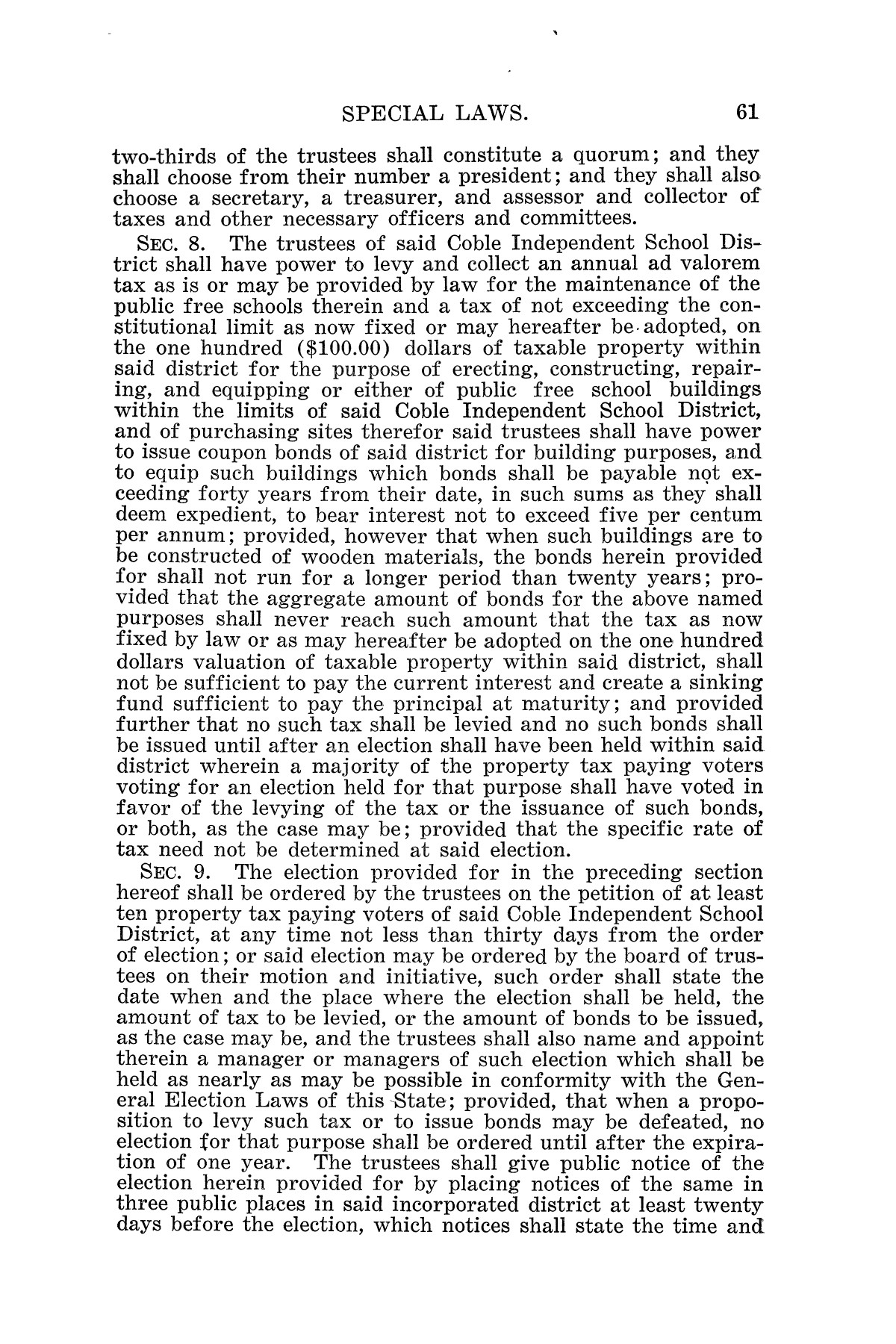 The Laws of Texas, 1925 [Volume 23]                                                                                                      [Sequence #]: 73 of 822