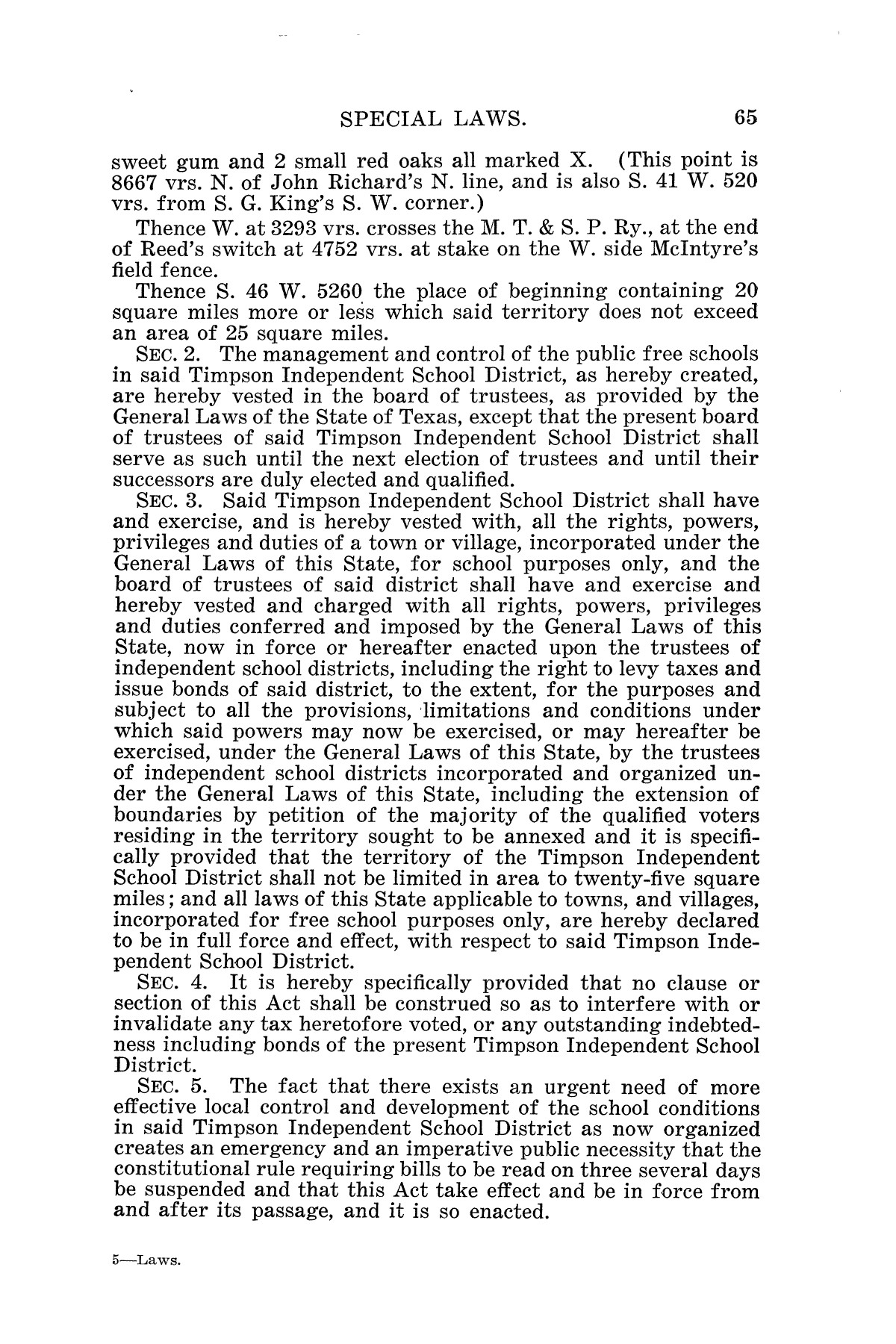 The Laws of Texas, 1925 [Volume 23]                                                                                                      [Sequence #]: 77 of 822
