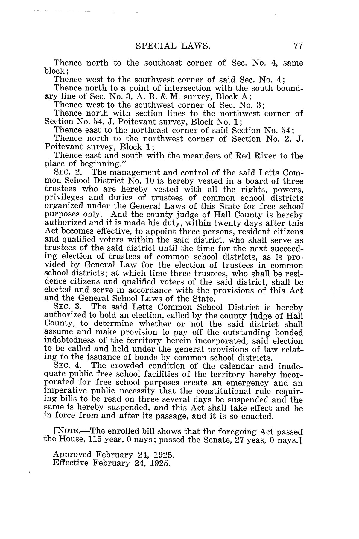 The Laws of Texas, 1925 [Volume 23]                                                                                                      [Sequence #]: 89 of 822