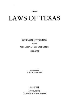 The Laws of Texas, 1925 [Volume 23]