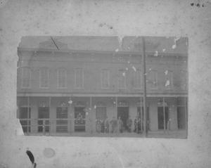 Primary view of object titled '[J.E. Dyer Store on Morton Street in Richmond, Texas]'.